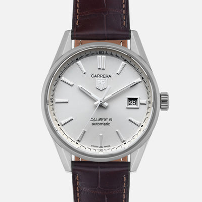 TAG Heuer Carrera Calibre 5 WAR211B White Dial On Strap