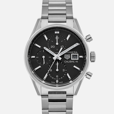 TAG Heuer Carrera Calibre 16 CBK2110 Black Dial On Bracelet