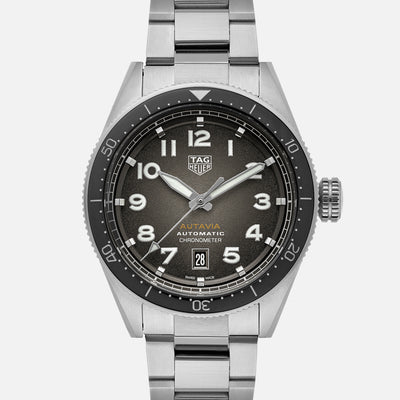 TAG Heuer Autavia Calibre 5 Chronometer WBE5114 Black Dial On Bracelet