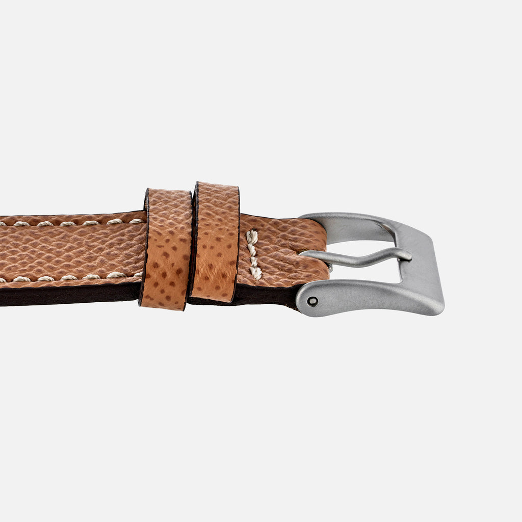 Textured Tan Calfskin Watch Strap