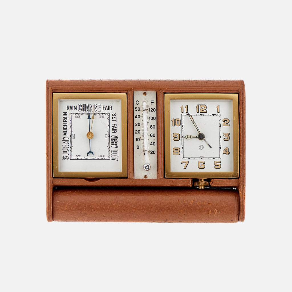 1960s Jaeger-LeCoultre Desktop Clock, Barometer, And Thermometer