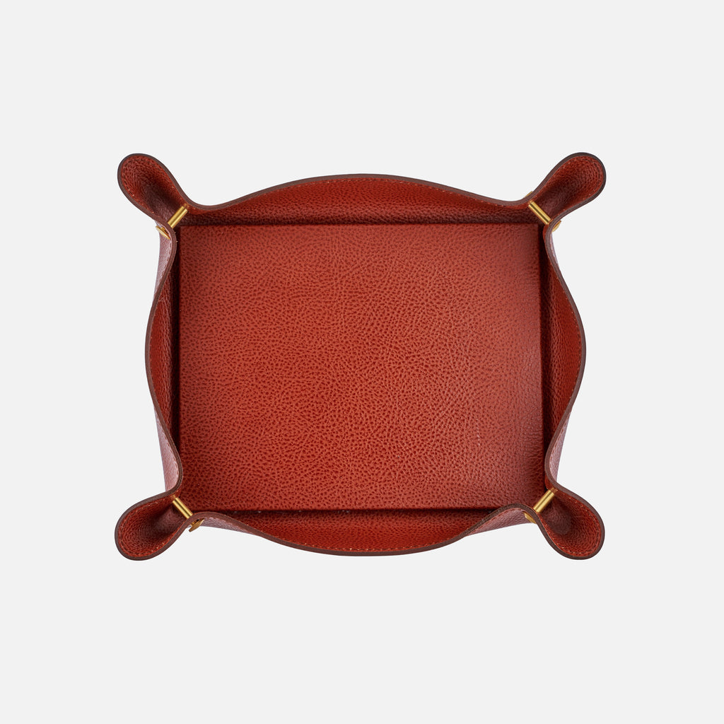 1970s French Leather Tray