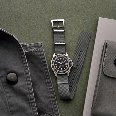 UTE Nylon Watch Strap in Grey alternate image.