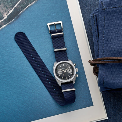 UTE Nylon Watch Strap In Navy alternate image.