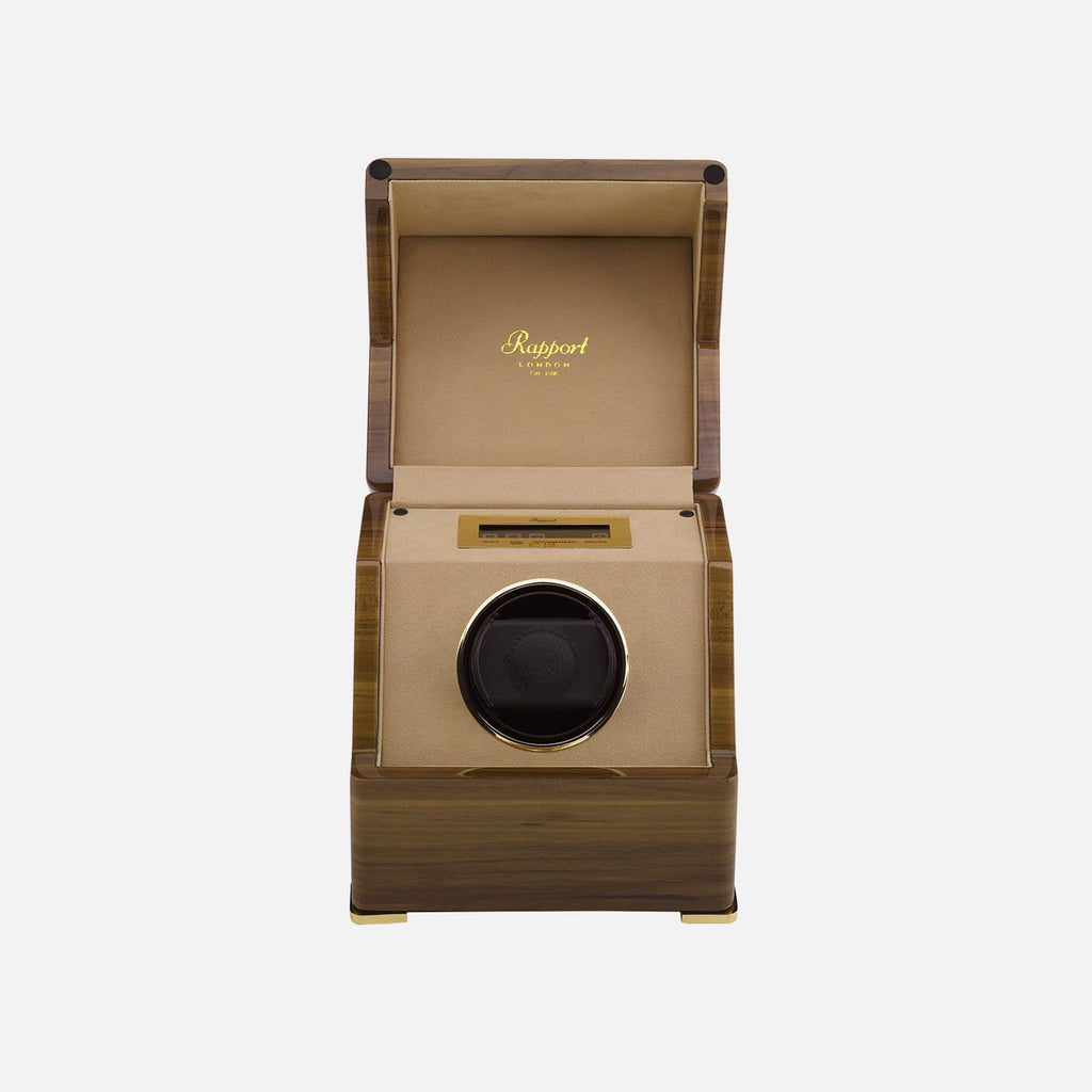 Single Rapport Perpetua III Touch Screen Watch Winder In Walnut