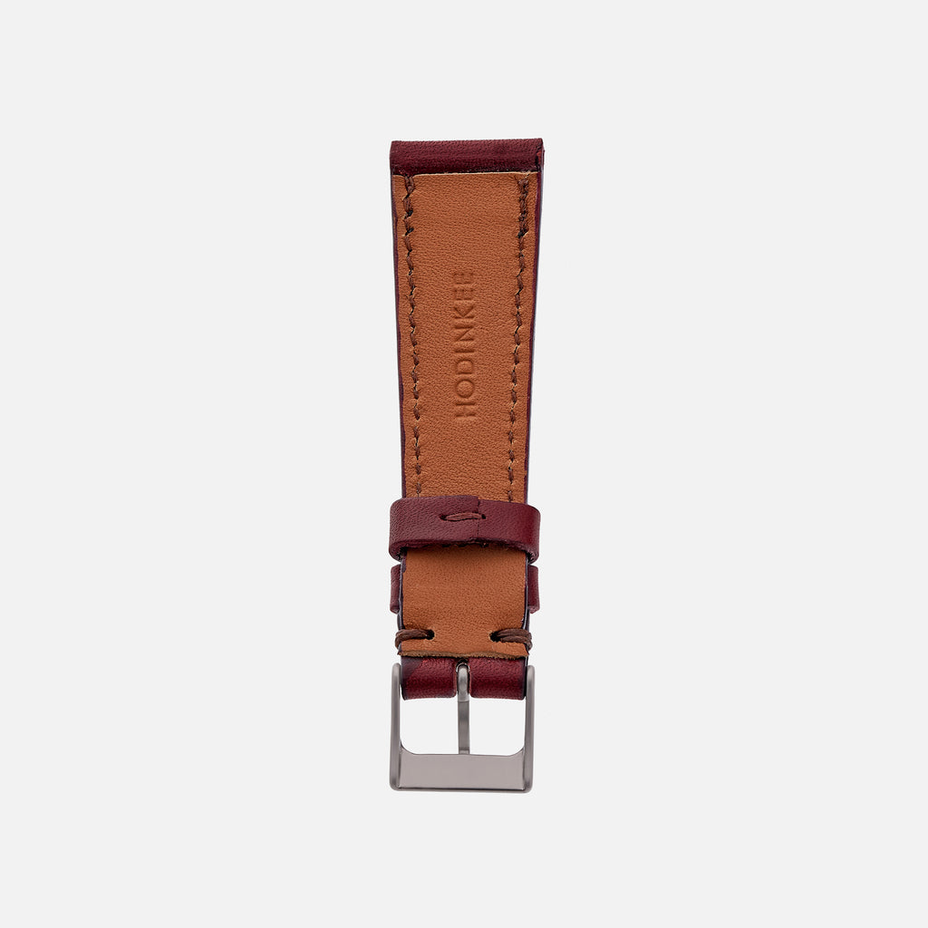 The Lined Cooper Watch Strap In Burgundy