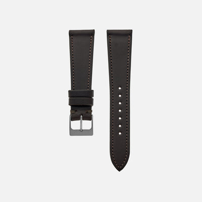 The Lined Cooper Watch Strap In Dark Brown