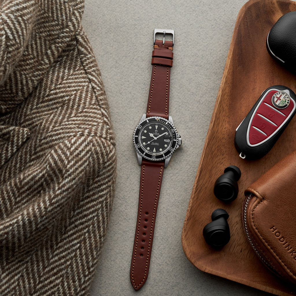 The Lined Cooper Watch Strap In Light Brown