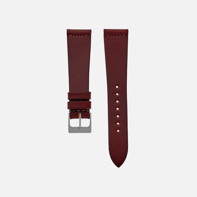 The Unlined Cooper Watch Strap In Burgundy