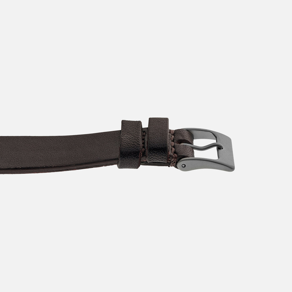 The Unlined Cooper Watch Strap In Dark Brown
