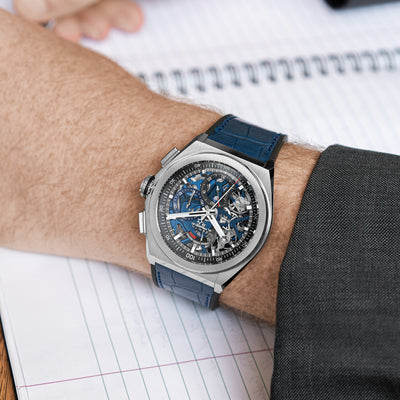 Zenith Defy 21 Chronograph With Blue Dial In Titanium alternate image.
