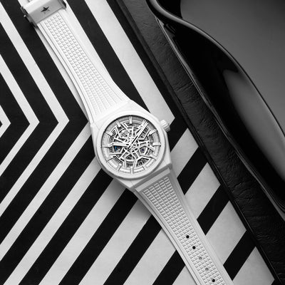 Zenith Defy Classic Skeleton In White Ceramic alternate image.