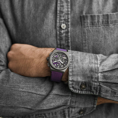 Zenith Defy 21 Ultraviolet Chronograph In Titanium alternate image.