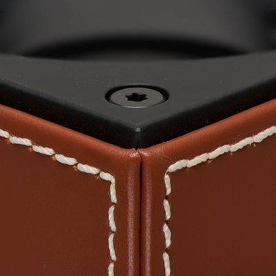 Brown Calfskin Swiss Kubik Watch Winder alternate image.