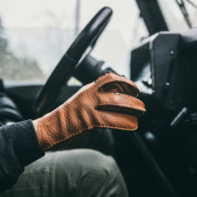 Hestra For HODINKEE Limited Edition Peccary Gloves In Cork alternate image.