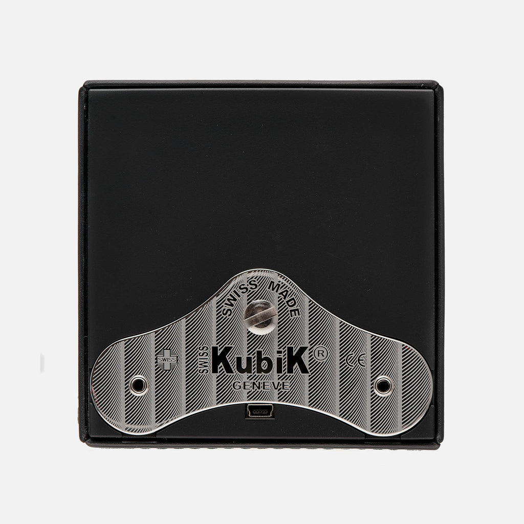 Black Calfskin Swiss Kubik Watch Winder
