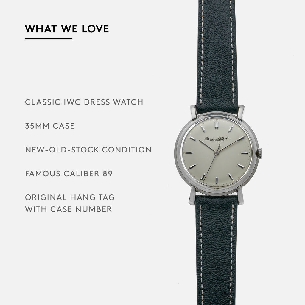 1950s IWC Steel Dress Watch