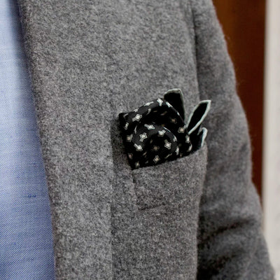 Drake's For HODINKEE Snowflake Pocket Square alternate image.