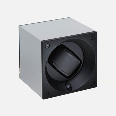 Anodized Silver Swiss Kubik Watch Winder