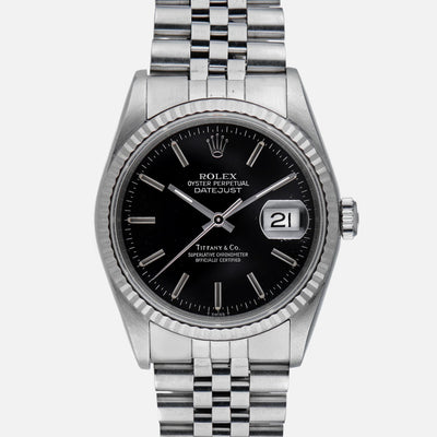 1990 Rolex Datejust Reference 16220 With Tiffany Dial