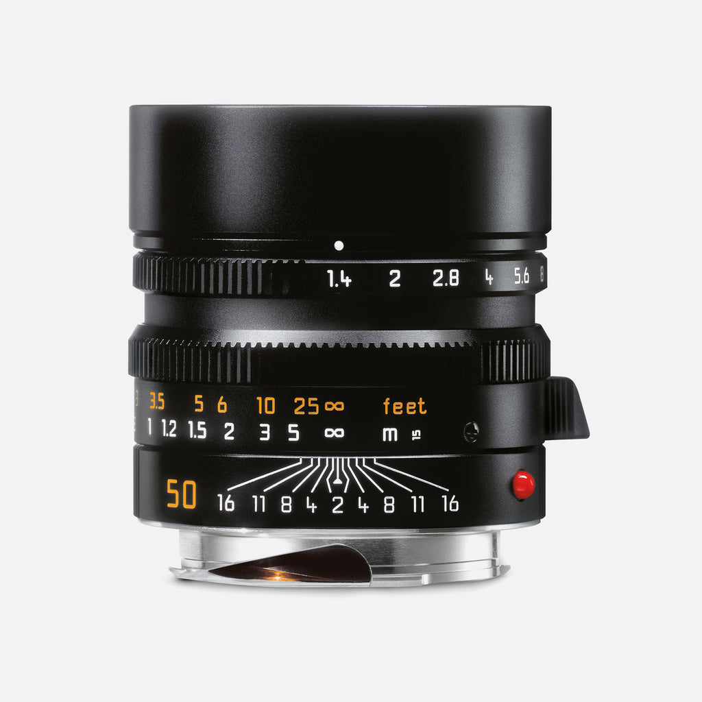 Leica SUMMILUX-M 50mm f/1.4 ASPH. Camera Lens In Black