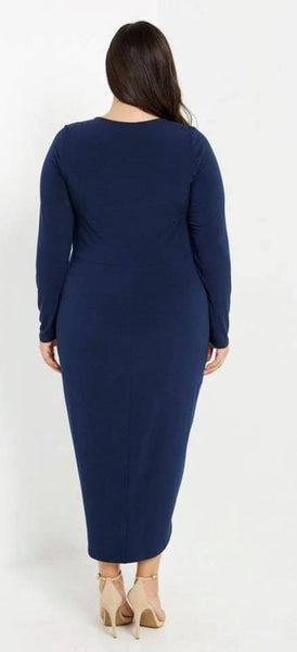 Navy Blue Boss Dress - JohntinesBoutique.com