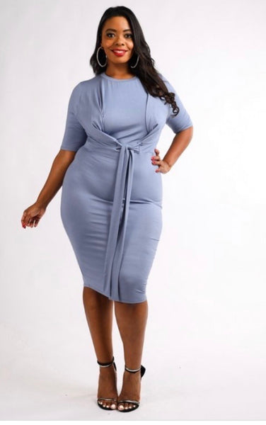 Blue Bliss Dress - JohntinesBoutique.com