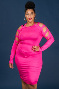 Pink Cage Dress - JohntinesBoutique.com