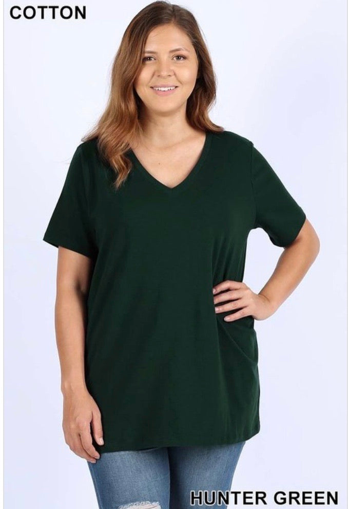 Hunter Green Basic Tee - JohntinesBoutique.com