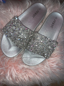 Silver Bling Slide - JohntinesBoutique.com