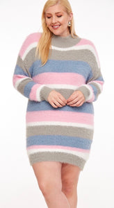 Fuzzy  Tunic Sweater - JohntinesBoutique.com