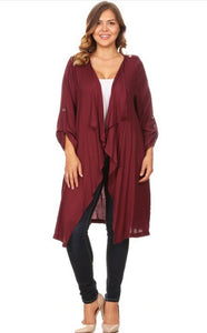 Plum Cardigan - JohntinesBoutique.com