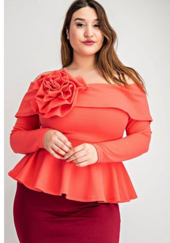 Spring Peplum Top - JohntinesBoutique.com