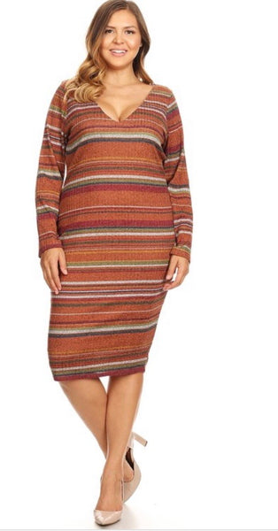 Rust Sweater Dress - JohntinesBoutique.com