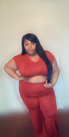 Rust Crop Top Set - JohntinesBoutique.com