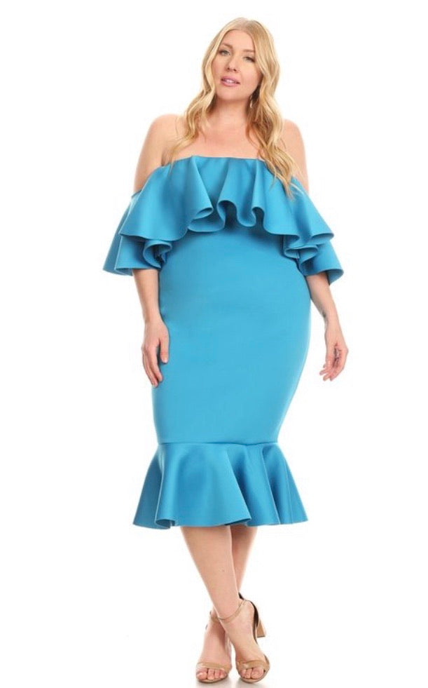 Melody Ruffle Dress - JohntinesBoutique.com
