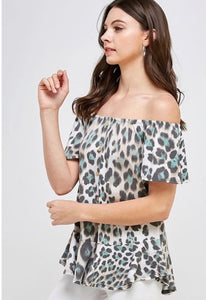 Leopard Babe Top - JohntinesBoutique.com