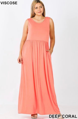 Bree Maxi In Coral - JohntinesBoutique.com