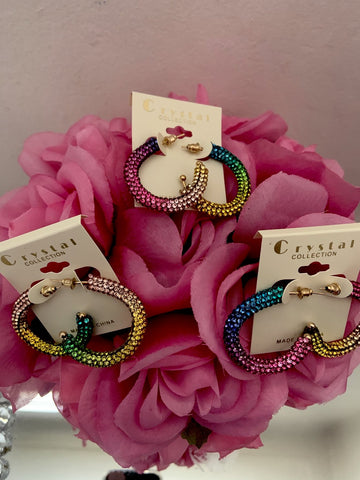 Baby   Colorful Bling Hoops
