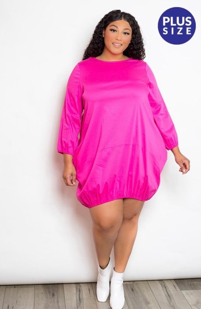 Cute As A Button Poplin Dress - JohntinesBoutique.com