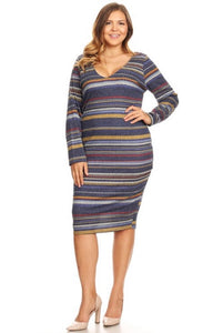 Navy Sweater Dress - JohntinesBoutique.com