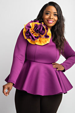 Flower Bomb Peplum Top
