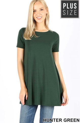 Hunter Green Flare Top - JohntinesBoutique.com