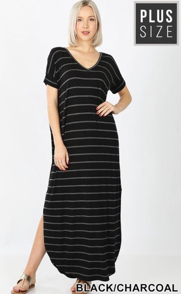Mona Stripe T-shirt Dress - JohntinesBoutique.com