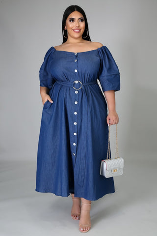 Dynasty Denim Dress - JohntinesBoutique.com