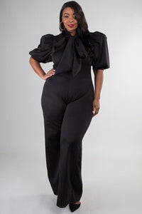 Posh Bow Jumpsuit - JohntinesBoutique.com