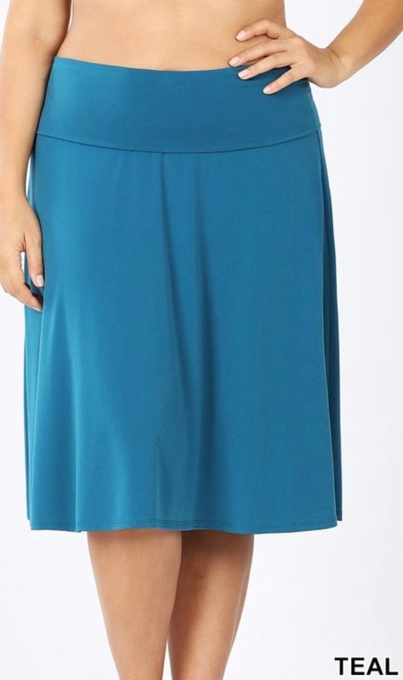 Teal Skirt - JohntinesBoutique.com