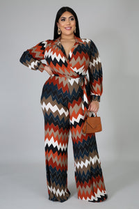 Cherry Chevron Jumpsuit - JohntinesBoutique.com