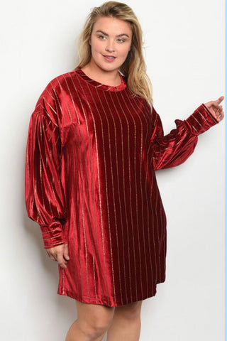 Wine Goldilocks Tunic Dress - JohntinesBoutique.com