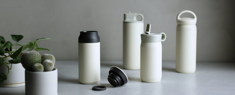 TRAVEL, PLAY, ACTIVE, AND DAY OFF TUMBLERS IN WHITE  BANNER